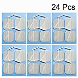 TENS Unit Pads 24 Pieces Wired Self-Adhesive Electrodes Premium Replacement Pads for TENS Units - 2x2 Inches (2x2-24 Pcs)