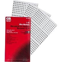 Gardner Bender 42-029 Wire Marker Booklet, 1-45; 10/Ea per book