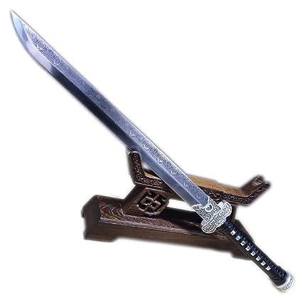 Amazon.com: Espada china, cuchillo de oro negro, cuchilla de ...