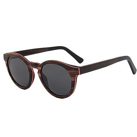 Yiwuhu Gafas de Sol al Aire Libre Gafas de Sol de Madera ...