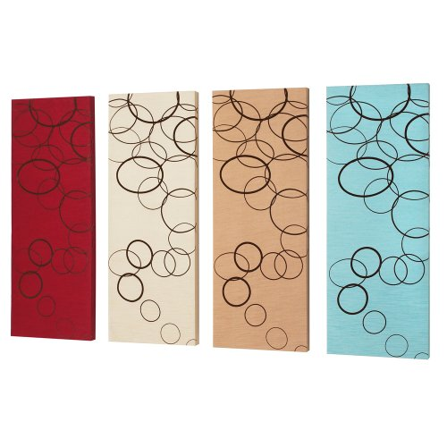 Dainolite Lighting DWA008 Circle Suede on Silk,  4-Piece