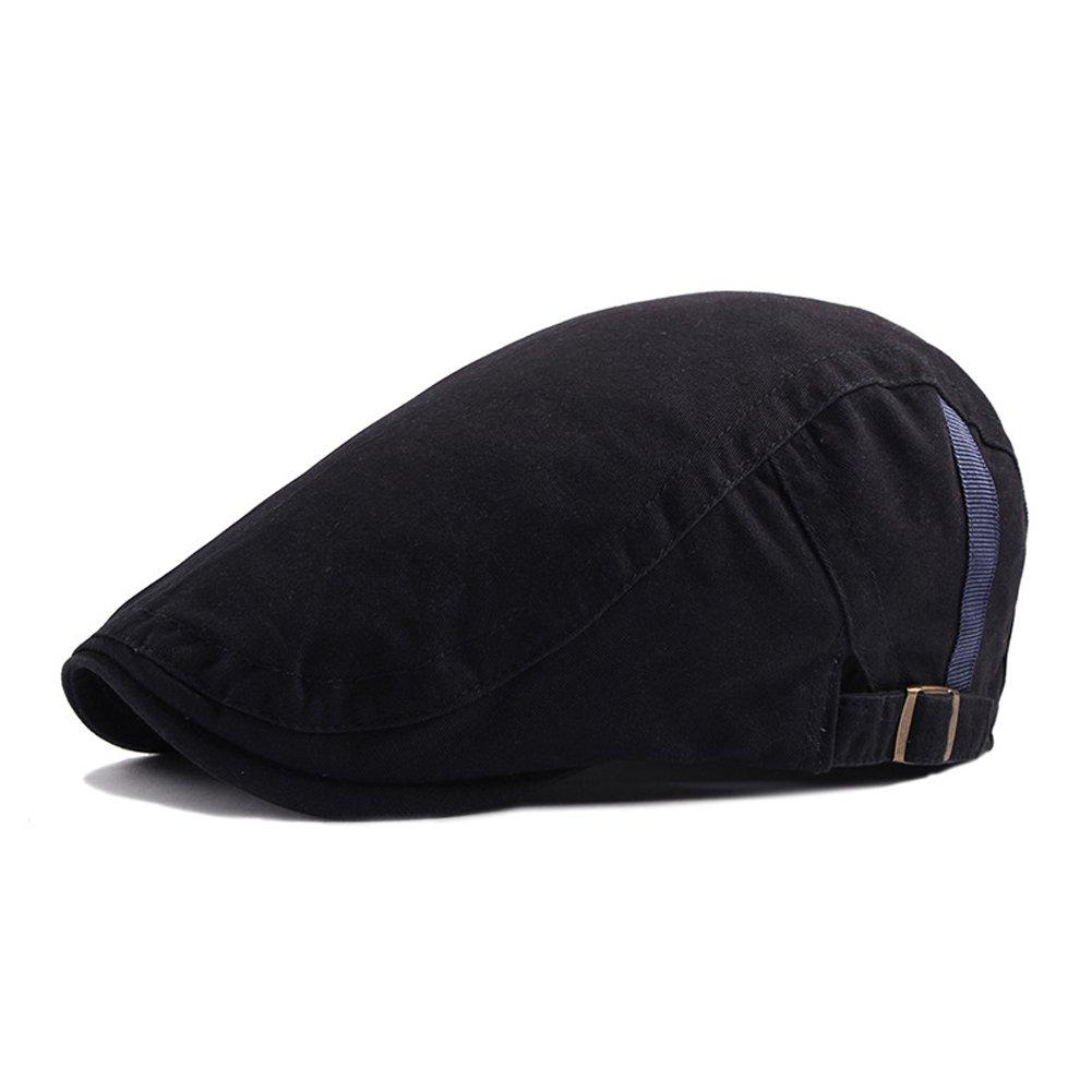 Anshili Uomo Cotone Cappello Flat Cap Beret Primavera (A)