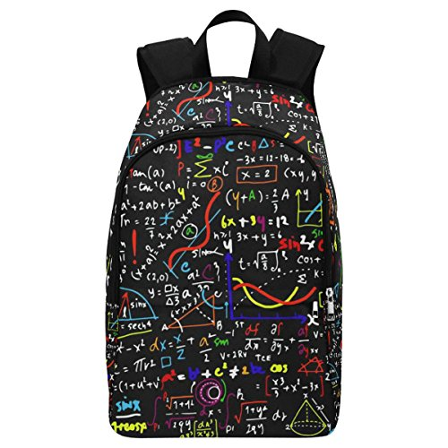 InterestPrint Math Linear Education Funny Casual Backpack College School Bag Travel Daypack