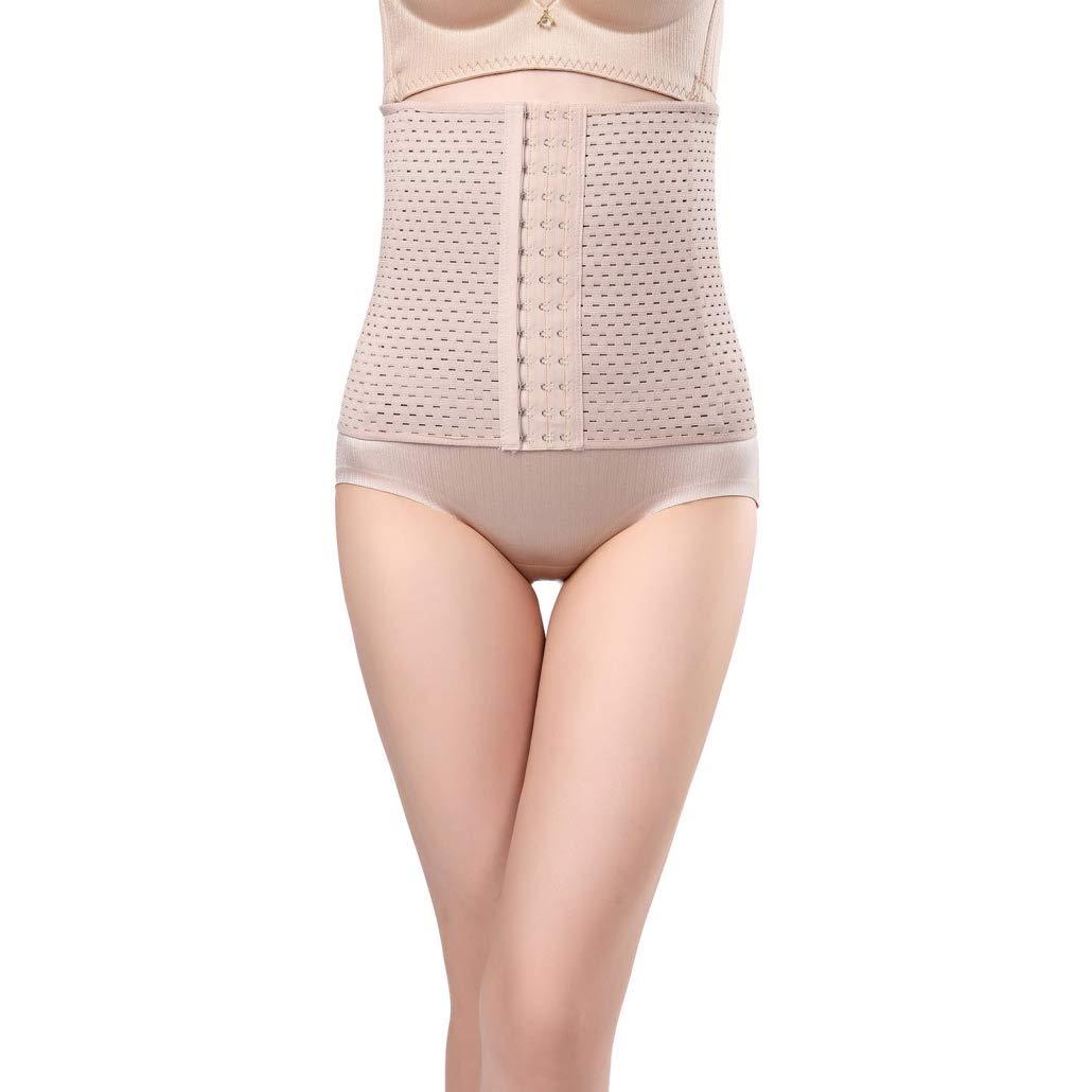 LUCACO Body Shaper Waist Trainer Belt Steel Boned Corset Women Postpartum Belly Slimming Underwear