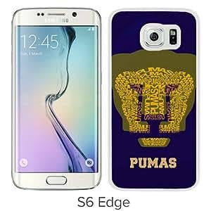 Popular Samsung Galaxy S6 Edge Case ,Beautiful And Unique Designed With UNAM Pumas 1 White Samsung Galaxy S6 Edge Cover