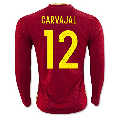 Price comparison product image Red 12 Carvajal Home Match Long Sleeve Soccer Adult Jersey EURO 2016