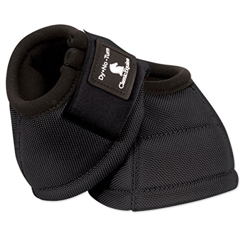 Classic Equine Dyno No-Turn Bell Boots Medium Blac