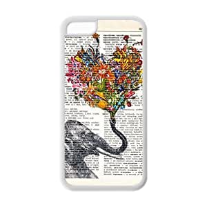 Godstore Elephant Design IPHONE 5C Best Rubber Cover Case