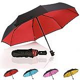wind vented umbrella - Compact Travel Umbrella Double Layer(Optional), QH Reinforced Waterproof Windproof Umbrellas for Women/Men,