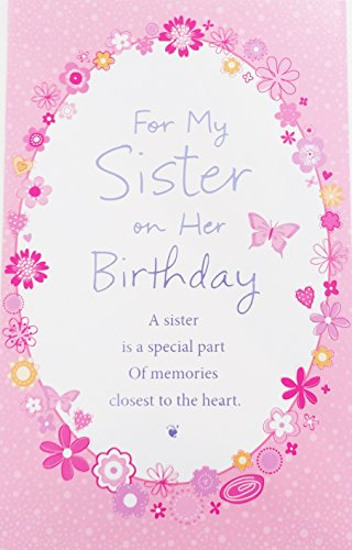 For My Sister on Her Birthday Greeting Card -