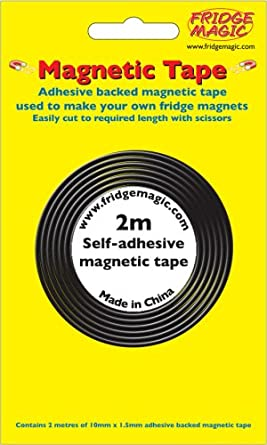 Magnet Expert/® White 12.7mm wide x 0.76mm thick Magnetic Gridding Tape 12.7mm x 0.76mm x 5 Metres