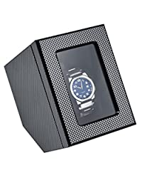 BOXY WOODEN SINGLE WATCH WINDER (Carbon Fiber finish)