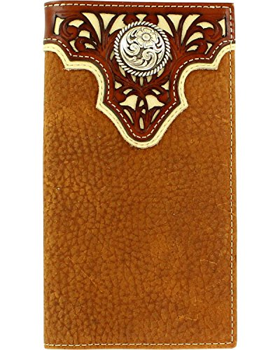 (Ariat Men's Tope Inlay Top Circle Rodeo Western Wallet, Tan, One Size)