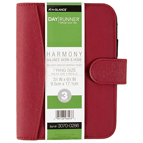 Day Runner Harmony Organizer, Holds Refills 3-3/4 x 6-3/4 Inches, Assorted Colors - Color May Vary (3070-0286) Day Runner Pocket Planner