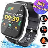 Smart Watch for Men - Waterproof Fitness Tracker with Blood Oxygen Monitor, Heart Rate Blood Pressure Calorie Pedometer Run Activity Tracker Watch Outdoor Wristband Prime Deal Summer Travel Gifts