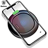 Wireless Charger, Baseus Qi Wireless Charger Ultra Slim for iPhone X 8 Plus