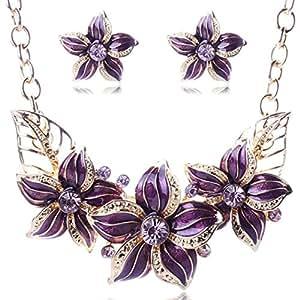 Collar gargantilla Bib. Conjunto de joyas para mujeres, adolescentes, niñas, cuekondy, elegante, estilo vintage, colgante de flor
