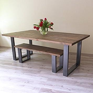 Table De Salle à Manger Moderne De Style Industriel Avec Pieds En
