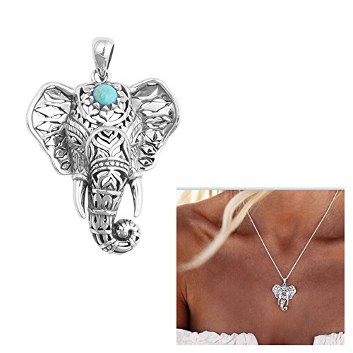 Boosic Elephant Catcher Pendant Necklace