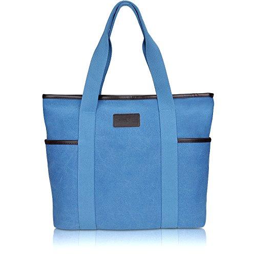 Sunny Snowy Canvas Tote Satchel Handbags - Canvas Top Zip Shoulder Bag Shopping Results