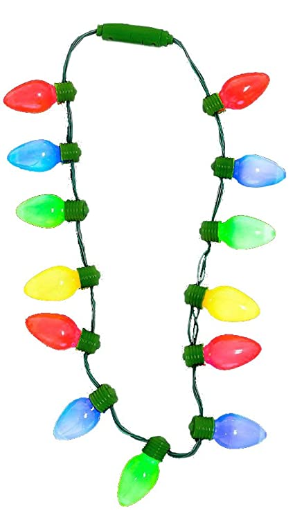 "amazon com 16"" light up christmas bulb necklace (1 necklace ) home16u0026quot; light up christmas bulb necklace (1 necklace )"
