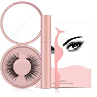Magnetic Eyeliner With 5 Magnetic Lashes, [2019 Newest] Professional 3D Waterproof Sweat-proof Magnetic Liquid Eyeliner Kit With Magnetic False Eyelashes & Tweezers For Use