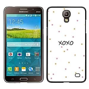 For Samsung Galaxy Mega 2 , S-type® Kisses Love Valentines Polka Dot - Arte & diseño plástico duro Fundas Cover Cubre Hard Case Cover