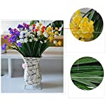 Leezeshaw-5Pcs-Artificial-Little-Lotus-Flowers-Bouquets-Fake-Simulation-Water-Lily-For-Indoor-Outside-Home-Garden-Office-Balcony-Wedding-Decor