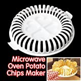 Vktech 10pcs New DIY Oil Free Healthy Microwave Oven Fat Free Potato Chips Maker Home