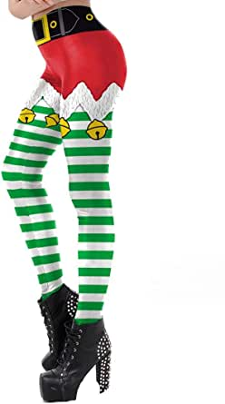 Christmas costume digital print leggings Christmas print ladies leggings-5N