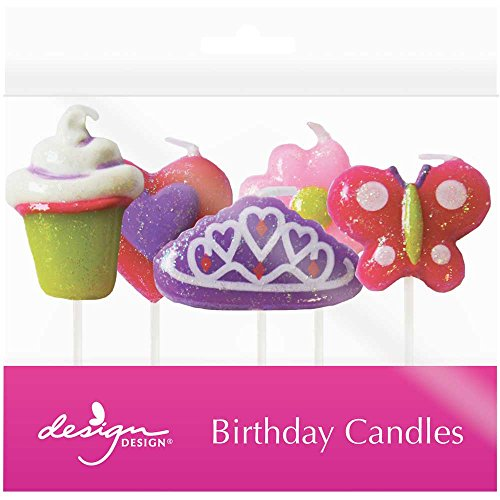 Princess Candlestick (JAM Paper Birthday Candles - 2 3/4