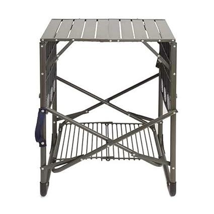 Amazon.com: Mesa plegable para camping, barbacoa, soporte ...