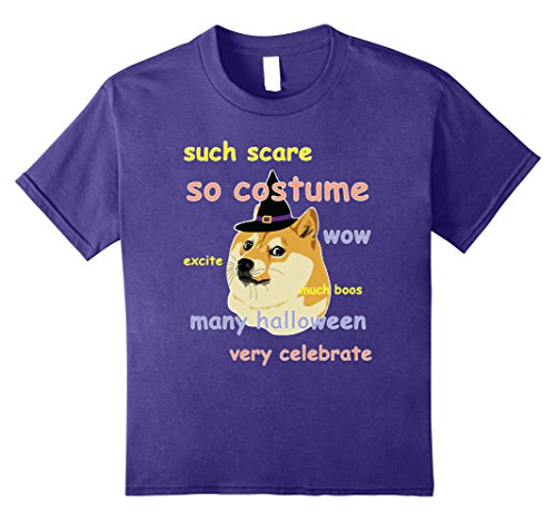 Hit Girl Costume Spirit Halloween - Kids Funny Halloween Costume Shirt - Dog Meme 8 Purple