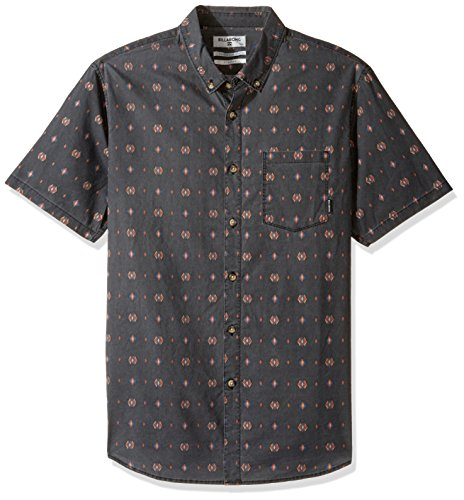 Billabong Men's Printed Woven Shirts, Asphalt Jetson 2XL