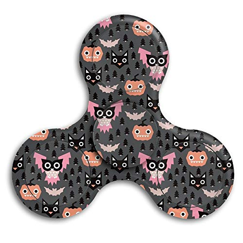 CRSJBB219 Halloween Geometric Pumpkin Cats High Speed Stainless Steel Bearing Focus Toys Fidget Spinner Perfect to Relieve