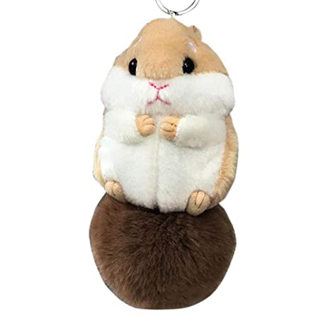 Llavero, Anillo Plateado Mini Hamster Clave Llavero Juguete ...