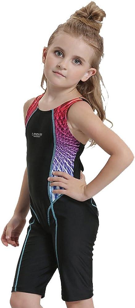 Hougood Kinder M/ädchen Einteilige Badeanzug Wettbewerbsf/ähige Badebekleidung Bodys Professionelle Wettbewerb Schwimmen Kost/üme Alter 4-12 Jahre Wettkampf Schwimmbekleidung