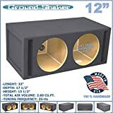 12'' DUAL VENTED SLOT PORTED SUB BOX GROUND-SHAKER