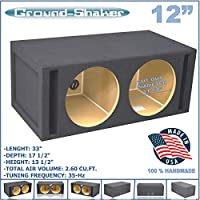 12 DUAL VENTED SLOT PORTED SUB BOX GROUND-SHAKER