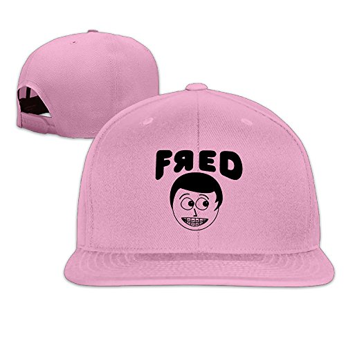 AAWODE Unisex YouTube Fred Adjustable Snapback Hip-hop Baseball Cap Pink