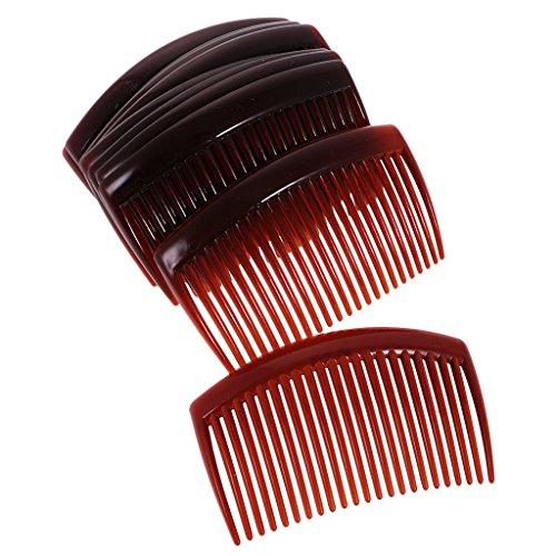 Gazechimp 12pcs Peigne à Cheveux en Résine en Plastique Cadeau pour Amie Petite Amie Mère Café