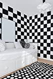 Checkered, Square Wall Art, Square Decals, Checkered Wall Pattern, Modern Nursery Decor, Dorm Room Decor, Event Decor, Checker Board Decal