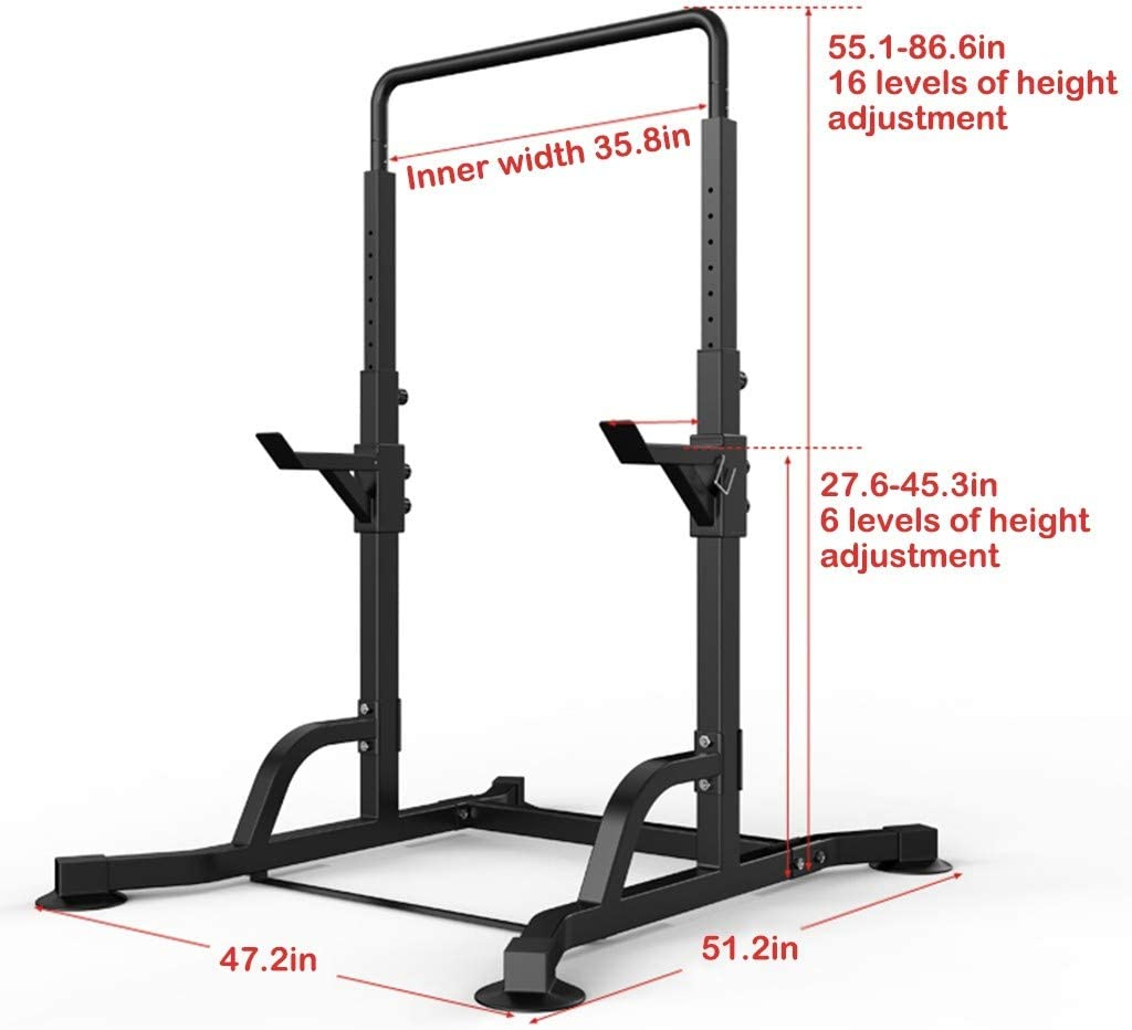 Squat Rack and Bench Press,Barbell Rack,Power Tower Pull Up Bar,Power Rack,Multifunctional Horizontal Bar Pull-up Weight Reduction Frame Bench Press Squat Home Gym Fitness