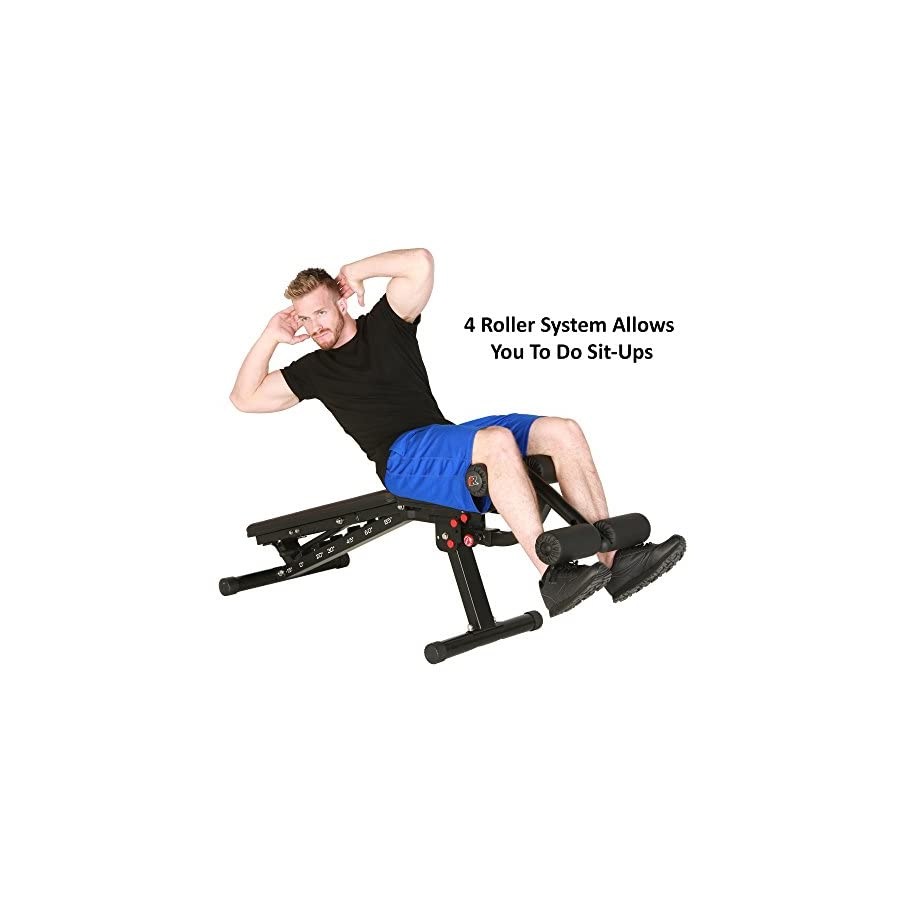 Fitness Reality 2000 Super Max XL High Capacity No Gap Weight Bench with Detachable Leg Lock Down