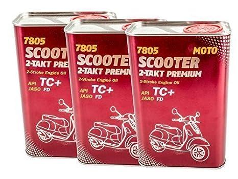 x 3 1l Mannol Scooter 2-takt PREMIUM SCOOTER ACEITE DE MOTOR: Amazon.es: Coche y moto