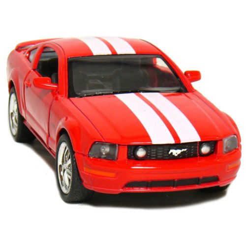 5-2006-ford-mustang-gt-with-stripes-138-scale-red-by-kinsmart