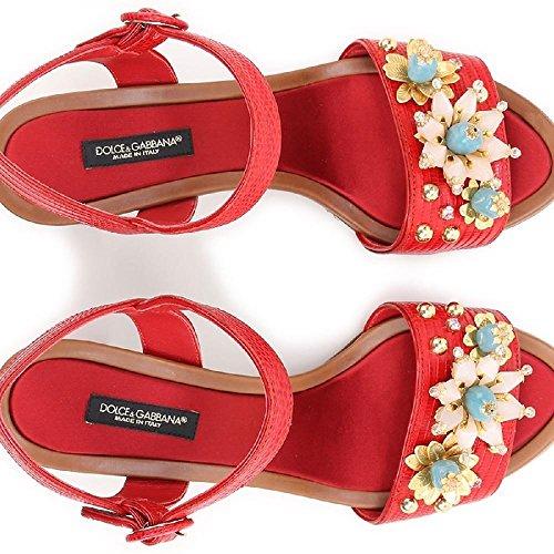AD368 Gabbana Sandalias rojo de CR0163 piel Rojo en modelo Dolce de tacón becerro 80303 amp; Número de color BfWBRZwq