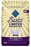 Blue Buffalo Basics Limited Ingredient Diet, Natural Senior Dry Dog Food, Turkey & Potato 24-Lb For Sale