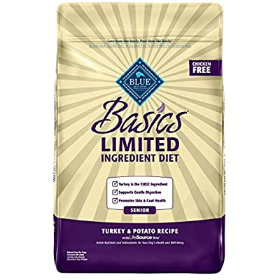 Blue Buffalo Basics Limited Ingredient Diet, Natural Senior Dry Dog Food, Turkey & Potato