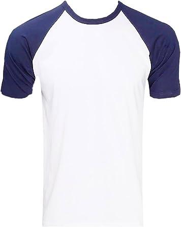 Raftaar® - Camiseta de Manga Corta Unisex 100% algodón Ligero de béisbol Raglán: Amazon.es: Ropa y accesorios